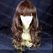 NEW Layered Curly Blonde Unique Mixture Brown Long Ladies Wigs from WIWIGS UK