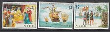 SHIPS: NIUE 1988 Columbus set SG731-3 n.h.mint