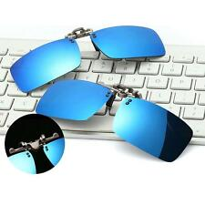 Mens Retro Outdoor Sports Polarized Clip-on Flip-up Sunglasses Driving Fishing