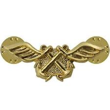 USN NAVY COLLAR DEVICE GOLD AVIATION BOATSWAIN (AB)   NEW