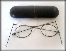 Antike Klapp Brille 1880 Königl. Hof - Optiker  R.Hegelmann Erfurt Eisenrahmen