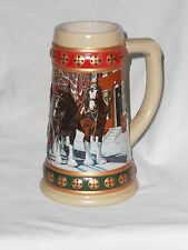 COLLECTIBLE BUDWEISER  BEER STEIN 1993 HOMETOWN HOLIDAY CHRISTMAS STEIN