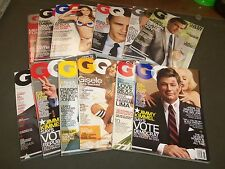 2008 GQ MAGAZINE LOT OF 12 ISSUES COMPLETE YEAR - GREAT FRONT COVERS - O 1014