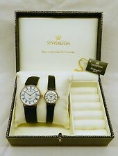 'His and Hers' 9ct Solid Gold Pair of Sovereign Exclusive Watches Brand New.