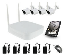4CH 720P HD WIFI KIT CCTV con 4xwireless FOTOCAMERE 1TB NVR MOBILE Viewing Outdoor