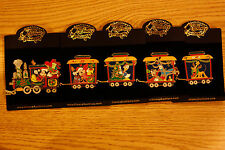 Mickey's Fab5 Holidays Train Set - Disney Auctions LE 100 Pins  Released in 2003