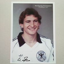 WOLFGANG DREMMLER DFB 81-84 signed Photo 20x28