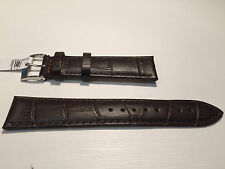 New - Brown Leather Strap - 20 mm - Correa Piel Marrón - Bolle Alligator Calf