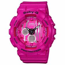Brand New Casio Baby-G BA120SP-4A Pink Scratch Pattern Ana-Digi Watch NWT!!