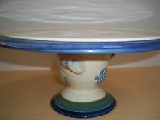 Pfaltzgraff Ocean Breeze Footed Cake Plate - Shell Design