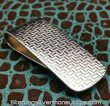 33.8g THICK TETRIS CLASSIC 935 925 Argentium Sterling Silver Money Clip USA