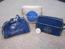 LOT of 3 Vintage Retro Chic Pan Am Airlines System Flight Carry-On Travel Bags