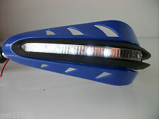 BLUE LED HANDGUARDS MOTORCYCLE ENDURO STREETFIGHTER TDM TTR YZF GSX WRF DTR XT
