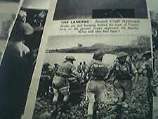 magazine item 1943 original ww2- greece pantellaria LANDING ALLIED TROOPS