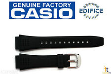 CASIO EFA-124 Edifice 20mm Original Black Rubber Watch BAND Strap EFA-123