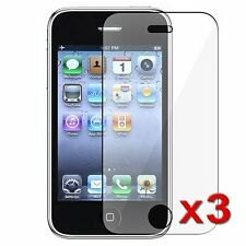 3-pack Crystal Clear Screen Protector for Apple iPhone 3G/3GS