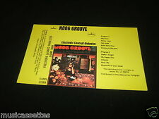 MOOG GROOVE ELECTRONIC CONCEPT ORCHESTRA NEW ZEALAND Unused Inlay Card