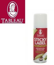 TABLEAU STICKY LABEL REMOVER SPRAY REMOVE STICKER RESIDUE STUFF GLUE MARKS 921