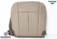 2007 2008 Ford Expedition -Passenger Bottom PERFORATED Leather Seat Cover Tan