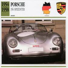 1954-1958 PORSCHE 356 SPEEDSTER Sports Classic Car Photo/Info Maxi Card