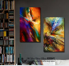 2 30x50x3cm Abstract Colour Pattern Framed Canvas Print Wall Art Decor Painting
