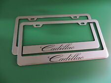 "(2)"" CADILLAC "" Stainless Steel license plate frame"