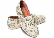 BRAND NEW AUTHENTIC WOMENS TOMS CLASSICS DICTIONARY QUOTES SIZE 8.5