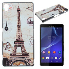 Fashion Design Smile Butterfly Pattern Hard Back Case Cover For Sony Xperia Z2