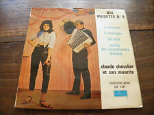 Claude Chevalier - bal musette n° 4 - disque Vega  Coll. saphir LDP 5.087