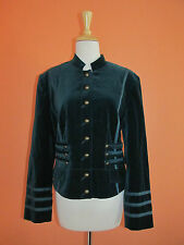 Together Size 16 Teal Green Military/Majorette Corset Velvet Jacket Blazer