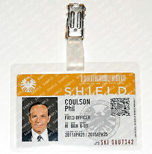Marvel Agents of S.H.I.E.L.D. Phil Coulson ID Badge Cosplay Costume Halloween