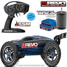 Traxxas 56086-4 1/10 E-Revo Electric Brushless Monster Truck w/ TSM /TQi Blue