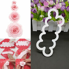 DIY Cake Rose Petal Flower Plastic Cutter Fondant Tools Sugarcraft Decor Mould