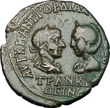 GORDIAN III & TRANQUILLINA 238AD Anchialus in Thrace NEMESIS Roman Coin i50911