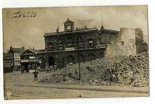 Foto AK Lille Nordbahnhof Bahnhof  Gare du Nord Station Zerstörung  Frankreich