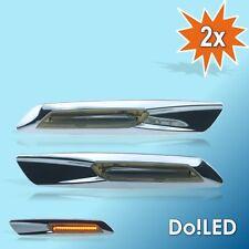 LED Seitenblinker Blinker CHROM Look p. für BMW E60 E61 E81 E82 E87 E88 E90 22S