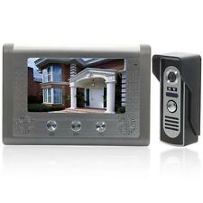 "7"" TFT LCD Monitor Wired Color Video Door Phone Doorbell Home Intercom System US"
