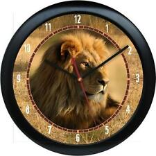 "Lion 10"" Wall Clock African Safari Wild Animal Print Zoo Jungle African"