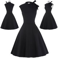 Vintage Style 40's 50's Housewife Dresses Swing Pin Up Party Cocktail Prom Retro