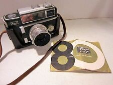Vintage KODAK Signet 80 Camera w / 50mm f/2.8 lens, leather case & book VGC