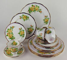 20 PC SET Royal Albert YELLOW TEA ROSE 4 x 5 PIECE PLACE SETTINGS vintage roses