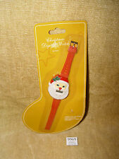 VINTAGE SANTA CHRISTMAS DIGITAL WATCH DESIGN MOC SEALED #XM3860 XMAS GIFT IDEA