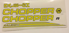 Raleigh CHOPPER MK3 decal set in Bright Lemon yellow/ Black Outline
