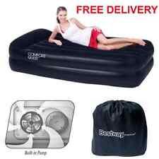 Sola cama de aire inflable colchón de camping Colchón de Aire Bomba eléctrica levantado Flocado!