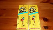 (2) Panther Martin 1/16 oz FishSeeUV PMUV BPO Trout In-Line Spinner Lure - NEW!