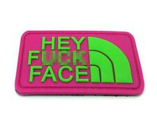 Hey F*** Face PVC Airsoft Patch Neon