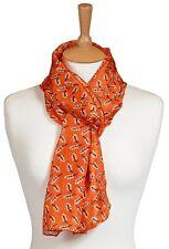 Quintessential 100% Pure Silk Luxury Scarf Printed In Logan Orange (33x170cm)