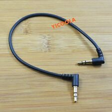 Short 20cm 0.6ft Right Angle 3.5mm Male to Male Speaker Stereo Audio Cable AUX