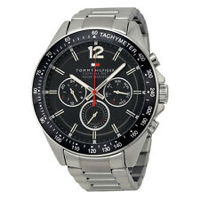Tommy Hilfiger Luke Multi-Function Black Dial Stainless Steel Mens Watch 1791104
