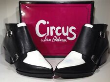 Circus by Sam Edelman Women's Size 10 Reese Black White Zip Ankle Boots ZE-376